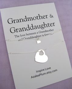 80th Birthday Gifts Solid Sterling Silver Necklace Grandmother Gift Granddaughter Mom