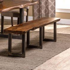 Brayden Studio® Linde Wood Dining Bench