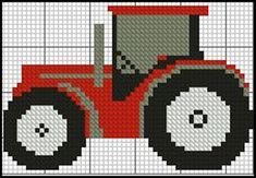 Tractor 2 Red Complete Counted Cross Stitch Kit x in Crafts, Needlecrafts & Yarn, Embroidery & Cross Stitch Mini Cross Stitch, Cross Stitch Needles, Cross Stitch Samplers, Cross Stitch Charts, Counted Cross Stitch Patterns, Cross Stitch Designs, Cross Stitching, Cross Stitch Embroidery, Image Pixel Art