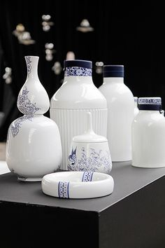 Collar Bottles by Arian Brekveld for Royal Delft