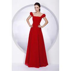 A-line Square Floor-length Juliet Chiffon Bridesmaid/ Wedding Party Dress – USD $ 99.99