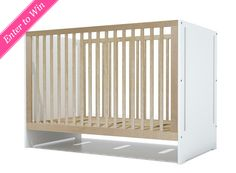 WIN IT! One Project Nursery reader will win the Oliv Crib from Modern Nursery.