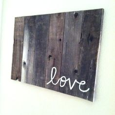 Super easy...old fence wood and paint!