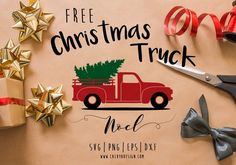 old truck christmas tree free SVG