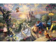 Thomas Kinkade Beauty and the Beast Painting: Limited Edition Canvas - I LOVE the whole collection!