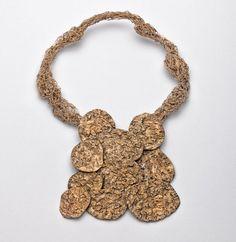 Necklace   Iris Bodemer.  Bronze, brass