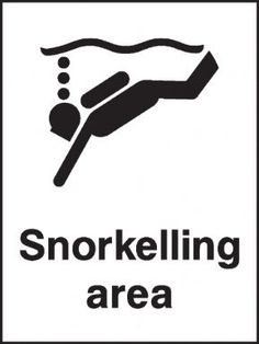 Snorkelling area safety sign