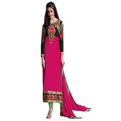 Buy Starmart Pink Georgette Dress Material by undefined, on Paytm, Price: Rs.999?utm_medium=pintrest