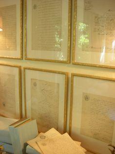 Framed Antique French Letters