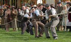 Thirsk Country Fair - The Downton men lean back as the tug-o-war begins Downton Abbey Season 1, Downton Abbey Series, Masterpiece Theater, Country Fair, Tug Of War, Face Expressions, Period Dramas, Cool Names, Seasons