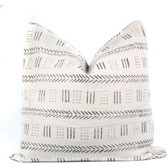 African White Mudcloth Pillow Cover Boho Pillow White Black Ethnic... ($90) ❤ liked on Polyvore featuring home, home decor, throw pillows, home & living, silver, white home decor, black and white toss pillows, black and white home accessories, handmade home decor and mud cloth throw pillows