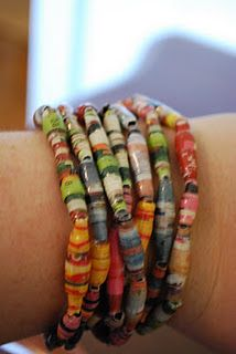 Ugandan Style Paper bead necklaces.  Various lengths that can be doubled, tripled, and even worn as bracelets.  On stretchy filament.  Prices range from $17-$28.  For more info check out The Plum Panda on FB.  All proceeds go to fund our special needs adoption from China.