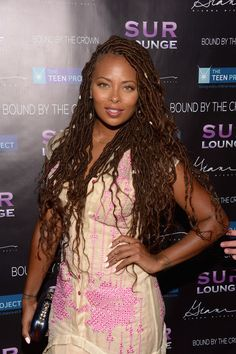 Eva Marcille Photos Photos - Actress Eva Marcille attends Teen Project LA's 2016 Teen Dream at Sur Restaurant on July 2016 in Los Angeles, California. Faux Locs Hairstyles, Teen Hairstyles, Black Girls Hairstyles, Protective Hairstyles, Summer Hairstyles, Eva Marcille, Natural Hair Twists, Natural Hair Styles, Marley Hair