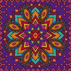 MANDALA CUSHION COVER C5 - Cross stitch pattern pdf chart | Cross Stitch Pattern…