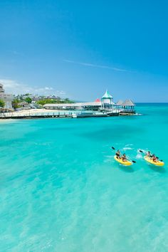 Water sports in the Caribbean at Sandals Ochio in Jamaica
