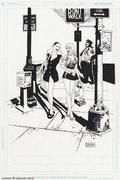 Coupla girls onna street yo. By Eduardo Risso