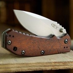 Canivete ZT customizado #WoodKnive