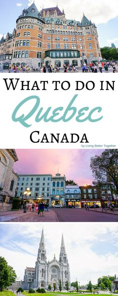 What to see and do in and around Quebec City in 48 hours! This beautiful little city in Canada with European charm is a must visit!