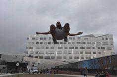 Parkour au Campus Gare