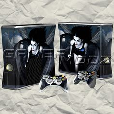 Gothic XBOX 360 Skin Set - Console with 2 Controllers