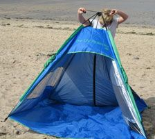 Opening sequence Shelta Beach Tent from Sunproof UK. Pop Up Beach Tent & 22 Best Sunproof UV beach tents and beach umbrellas by Shelta ...