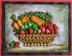Quilled Fruits and Vegetables - by: Jeki Yandar