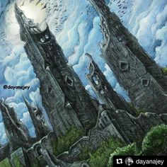 Repost Dayanajey Harrenhal From The Game Of Thrones Coloring Book For