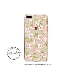 Pink Floral iPhone Case - iPhone 7 Case - iPhone 7 Plus Case - iPhone 6 Case - iPhone 8 Case - iPhone X Case - iPhone 8 Plus Case - Clear by PetrichorCases on Etsy Mobile Phone Cases, Iphone 8 Cases, Iphone 8 Plus, Environmentally Friendly Packaging, Floral Iphone Case, Bright Pictures, 6s Plus Case, For Facebook, New Product