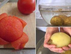 Dicas - Como descascar batata, tomate e cebola em segundos usando somente as mãos