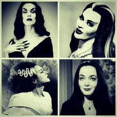 ~ † Vampira Maila Nurmi † Yvonne De Carlo  † Elsa Lanchester † Carolyn Jones ~Legend Dark Queens ~