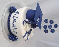 High School Graduation Cake And Cupcakes