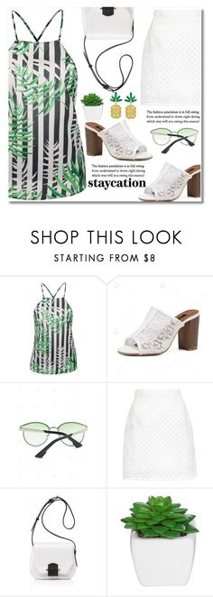"""""""Rest Up: Staycation"""" by fshionme ❤ liked on Polyvore featuring Carven, Joanna Maxham and staycation"""