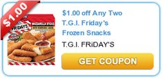 Deposit Store Coupons Savings to your Disney Fund. $1.00 off Any Two T.G.I. Friday's Frozen Snacks