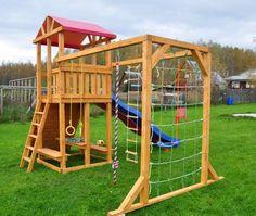 "Children's Playground ""Madrid""- Детская игровая деревян… - All For Garden"