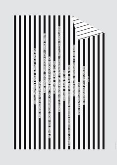 black and white stripes: geometrical poster design | typography / graphic…