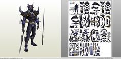 Papercraft .pdo file template for Final Fantasy - Cecil Dark Knight.