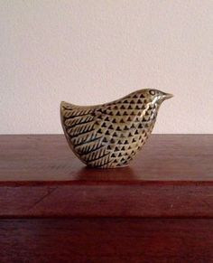 RARE-Ceramic-Bird-by-STIG-LINDBERG-for-Gustavsberg-Sweden-Mid-Century-Modern