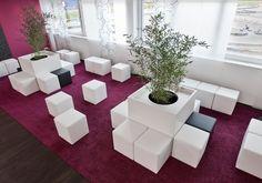 Lounge CUBE SMV Sitz- & Objektmöbel, Quadratische Loungemöbel