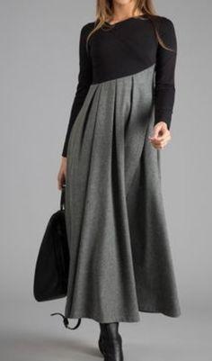 Color Block Ruffles Long Sleeve Midi A-line Dress vestidos Long Sleeve Work Dress, Long Sleeve Maxi, Dress Long, Long Winter Dresses, Dress Sleeves, Dress Winter, Affordable Dresses, Elegant Dresses, Elegant Outfit