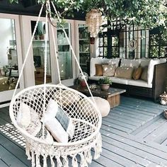 Kinden Hanging Cotton Rope Macrame Hammock Chair Macrame Swing 265 Pound Capacity Handmade Knitted Hanging Swing Chair for Indoor/Outdoor Home Patio Deck Yard Garden Reading Leisure Lounging Hanging Swing Chair, Swinging Chair, Hanging Chairs, Macrame Hanging Chair, Woven Chair, Hanging Rope, Bedroom Swing Chair, Hanging Lights, Macrame Chairs
