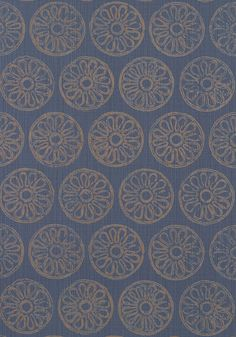 Maryse #wallpaper in #navy from the Artisan collection. #Thibaut