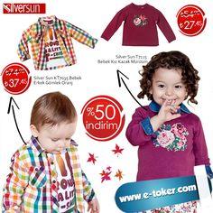 ✿ Hem bebeğinizin içini , hem cebinizi ısıtacak %50 'ye Varan İndirim ! :)  Andywawa, Nanica Kids, Silver Sun, İdil Baby, Bebetto  ve daha bir çok markadaki indirimler için acele edin :)  ● Silver Sun KT7035 Bebek Gömlek ; http://www.e-toker.com/silver-sun-kt7035-bebek-erkek-gomlek-oranj-21474   ● Silver Sun T7115 Bebek Kazak ; http://www.e-toker.com/silver-sun-t7115-bebek-kiz-kazak-murdum-21349  Tüm Markalar ; http://www.e-toker.com/giyim?limit=100 :)  Müşteri Destek Hattı : 0 312 911 1 666…