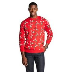 Men's Reindeer Ugly Christmas Sweater Red - 33 Degrees