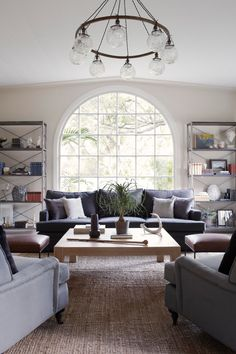love the symmetry of this room and the gorgeous window... via desire to inspire - desiretoinspire.net - A secondhelping