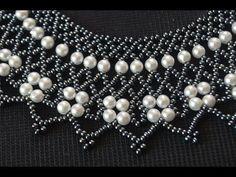 Колье из бисера. Мастер класс / Necklaces of beads. Beading - YouTube