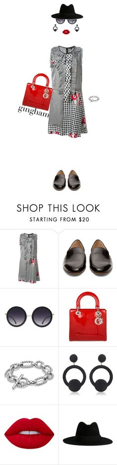 """""""Gingham"""" by misshonee ❤ liked on Polyvore featuring Marc Jacobs, Gabriela Hearst, Alice + Olivia, Christian Dior, David Yurman, Rebecca de Ravenel, Lime Crime and Yves Saint Laurent"""