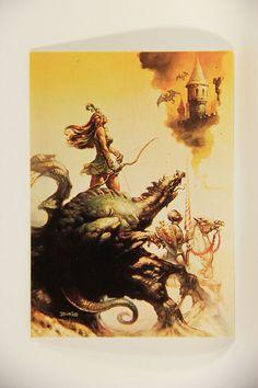L011013 Boris Vallejo 1992 Card / Dragon & The George II 1976 - Card #16 ARTWORK