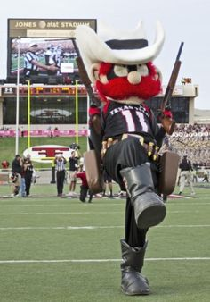 Raider Red, mascot of Texas Tech University.