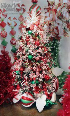 Peppermint Twist Christmas Tree Theme Christmas