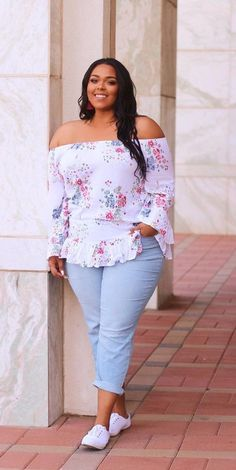 Curvy outfit, plus size mode, plus size look, plus size fashion, pl Plus Size Looks, Curvy Plus Size, Plus Size Casual, Plus Size Women, Plus Size Summer Fashion, Womens Fashion For Work, Summer Work Outfits Plus Size, Fashion Women, Curvy Girl Fashion